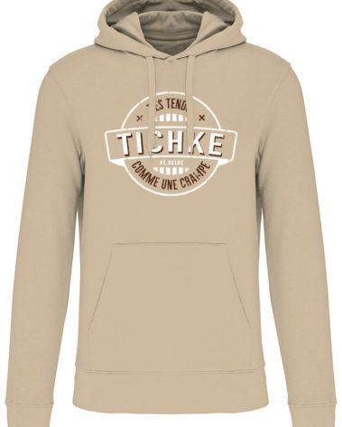 Sweatshirt capuche Tichke sable
