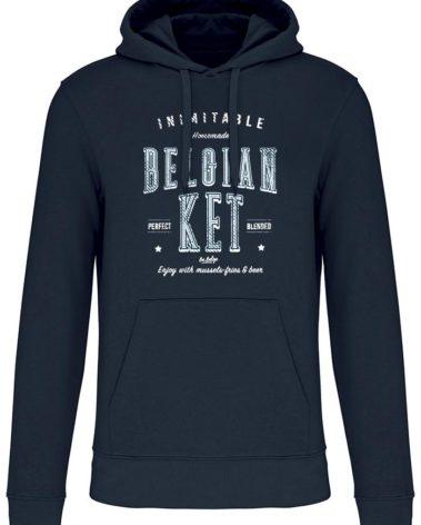 Sweatshirt capuche navy belgian ket