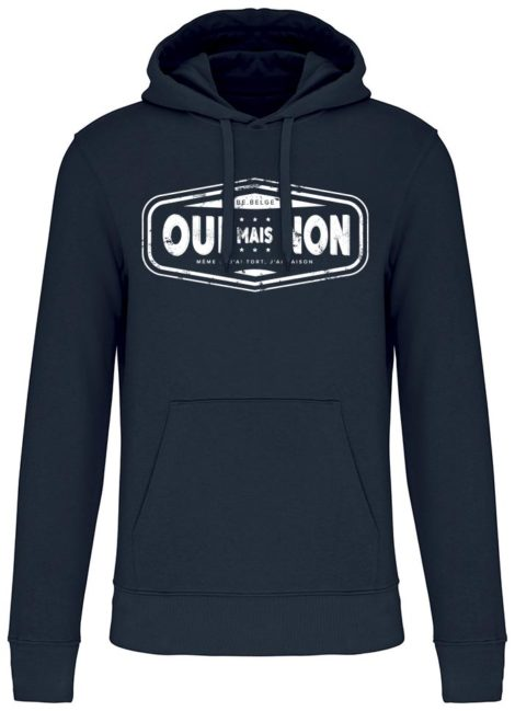 Sweatshirt capuche navy oui mais nons