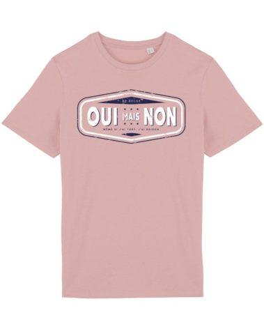 T-shirt petale rose oui mais non