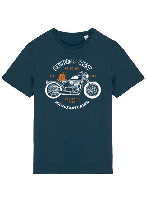T-shirt Super Ket bleu paon