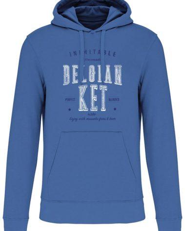 Sweatshirt capuche mer bleue belgian ket