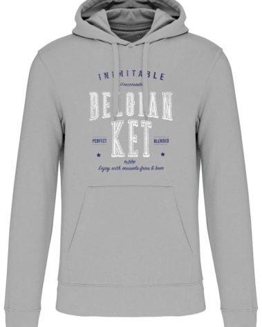 Sweatshirt capuche silver belgian ket